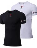 Gladiator Compressie shirt zwart en wit