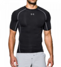 Under Armour HeatGear Compressie shirt zwart