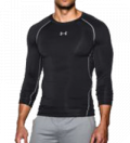 Under Armour Heatgear compressieshirt zwart